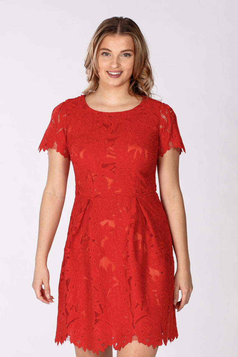 Alexi lace dress - Red