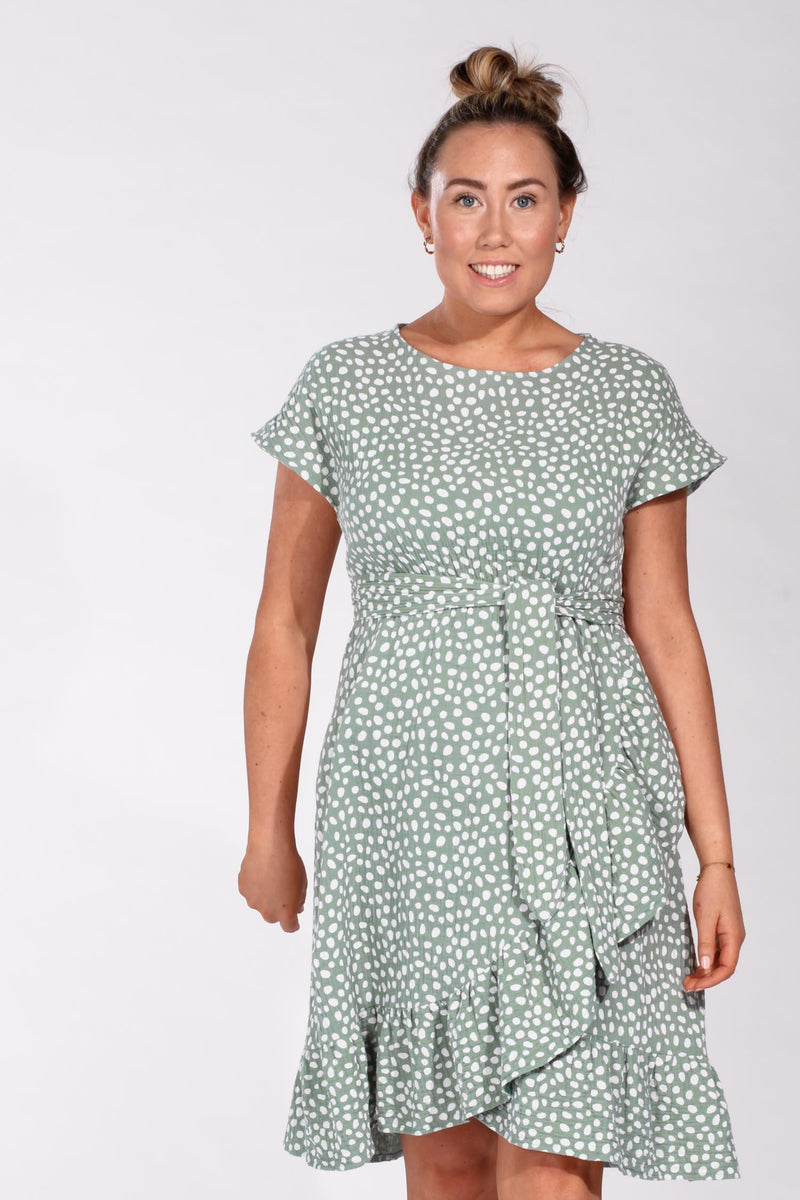 Gianna frill dress - Green