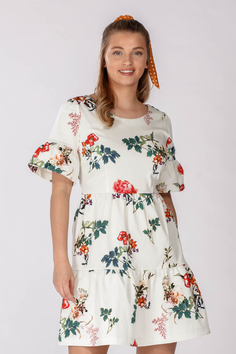 Marigold dress - White flowers