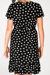 Polka dot frill dress - Black