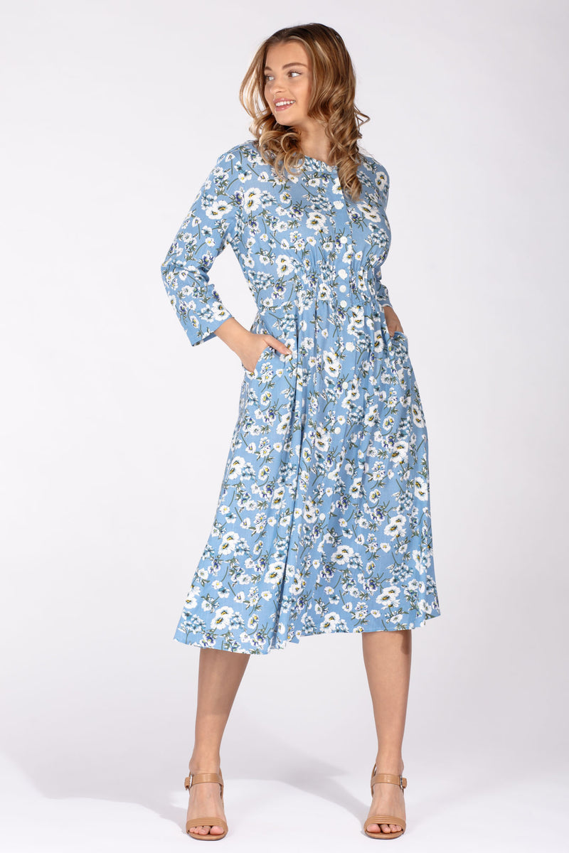 Sandy shirt dress - Baby blue