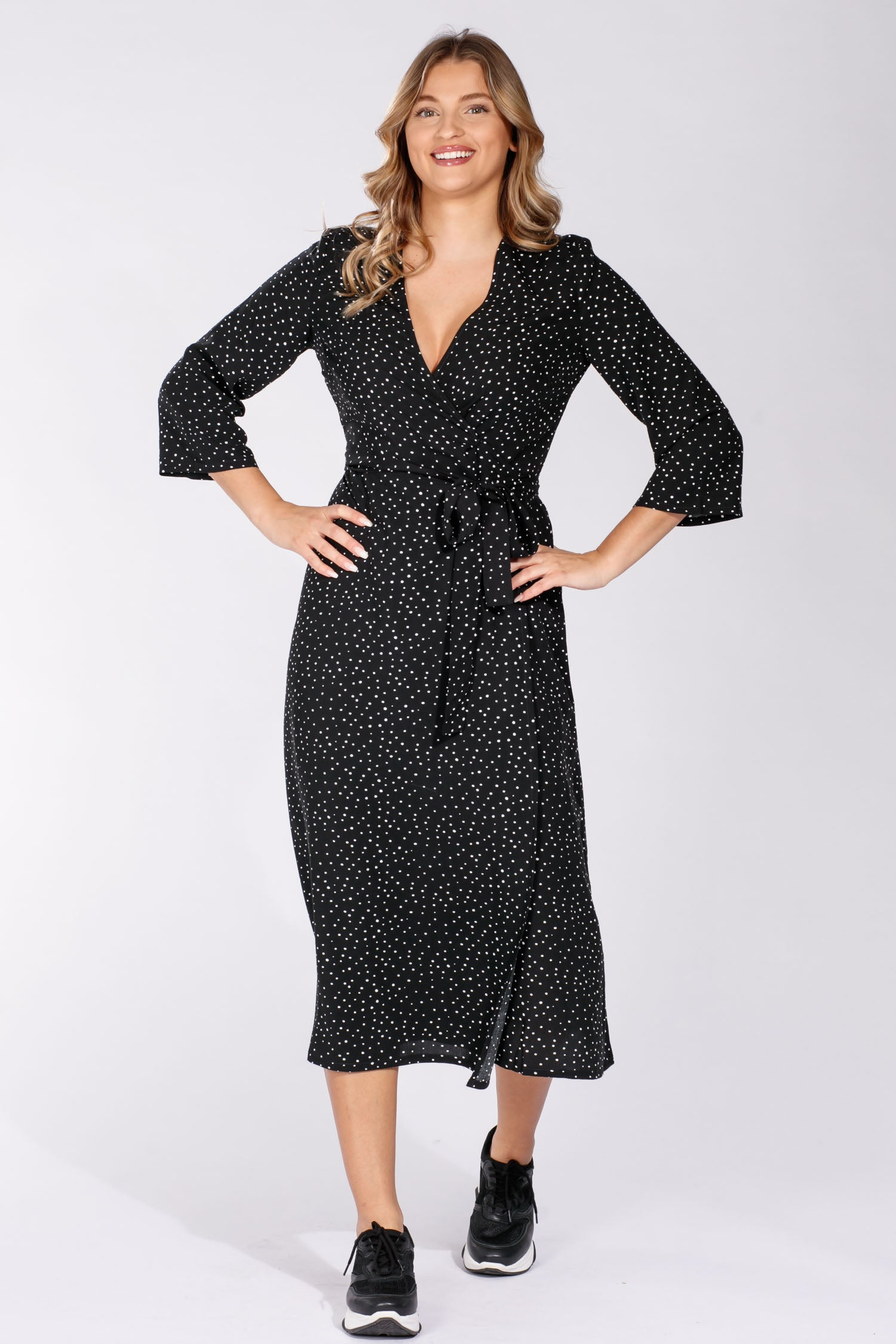 Nora wrap dress - Black