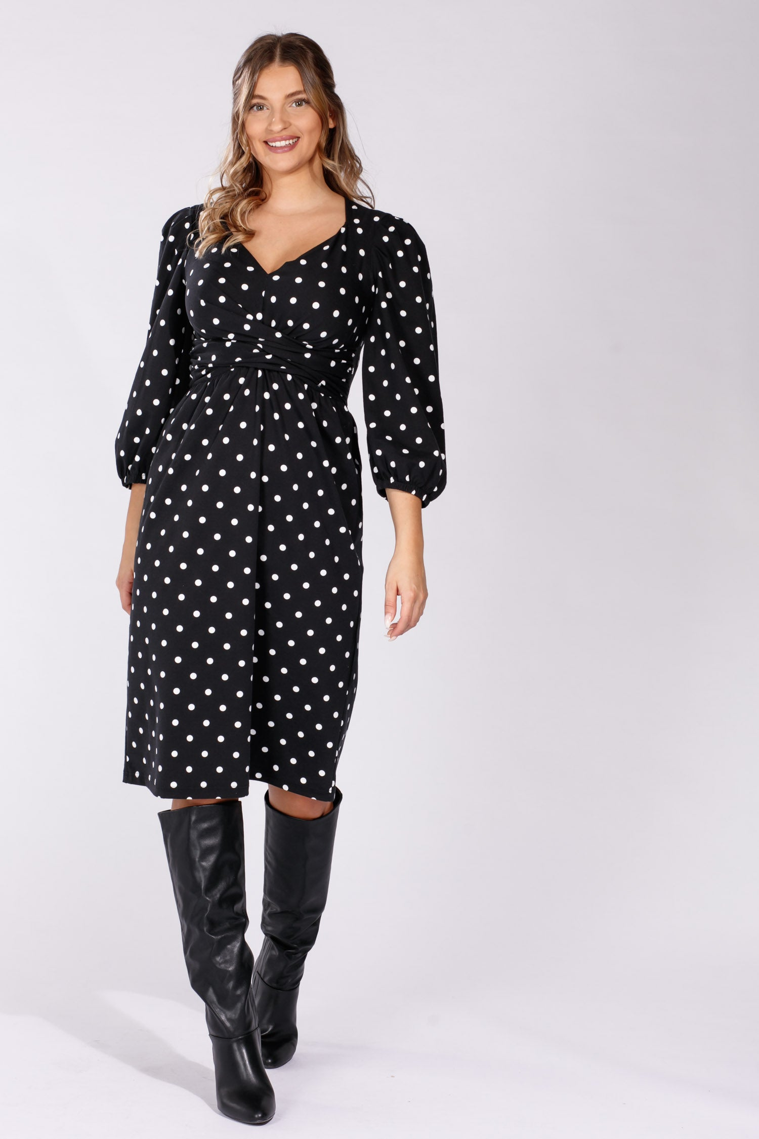 Valentina jersey dress - Black