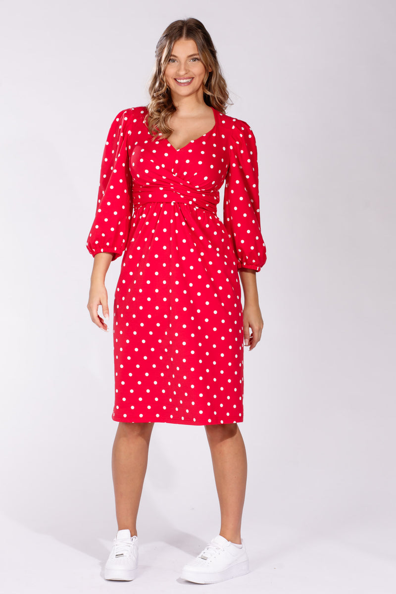 Valentina jersey dress - Red