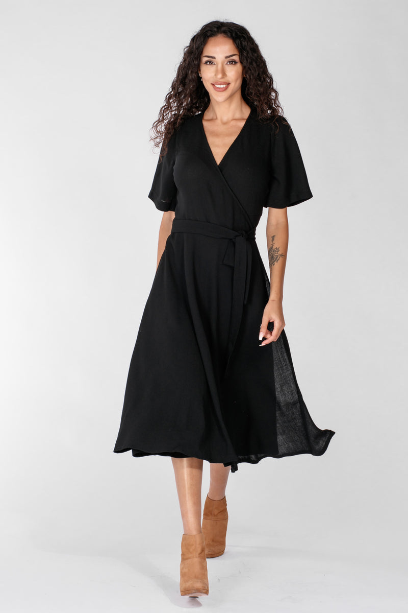 Ella wrap dress - Black