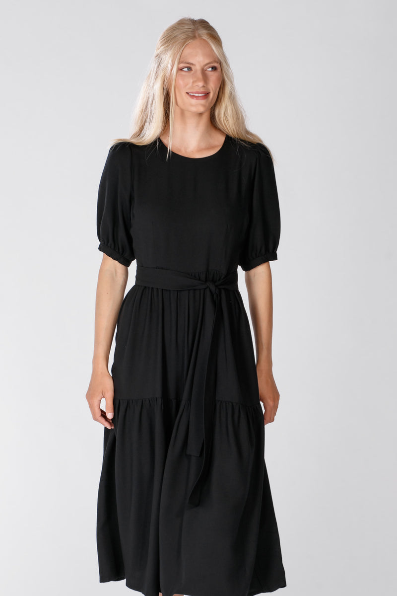 Maggie midi dress - Black