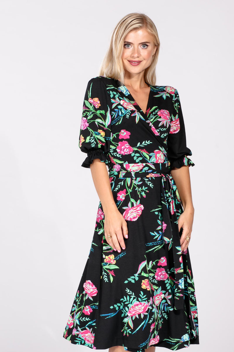Amanda wrap dress - Black