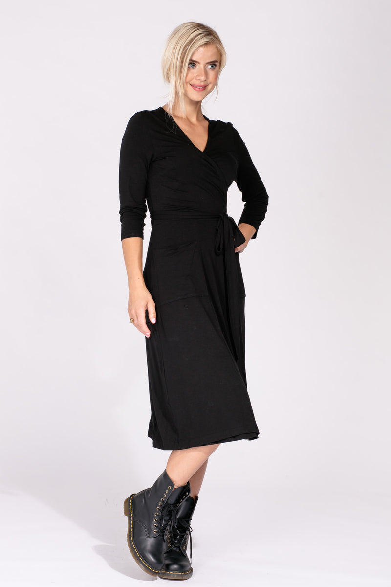 Smart wrap dress - Black