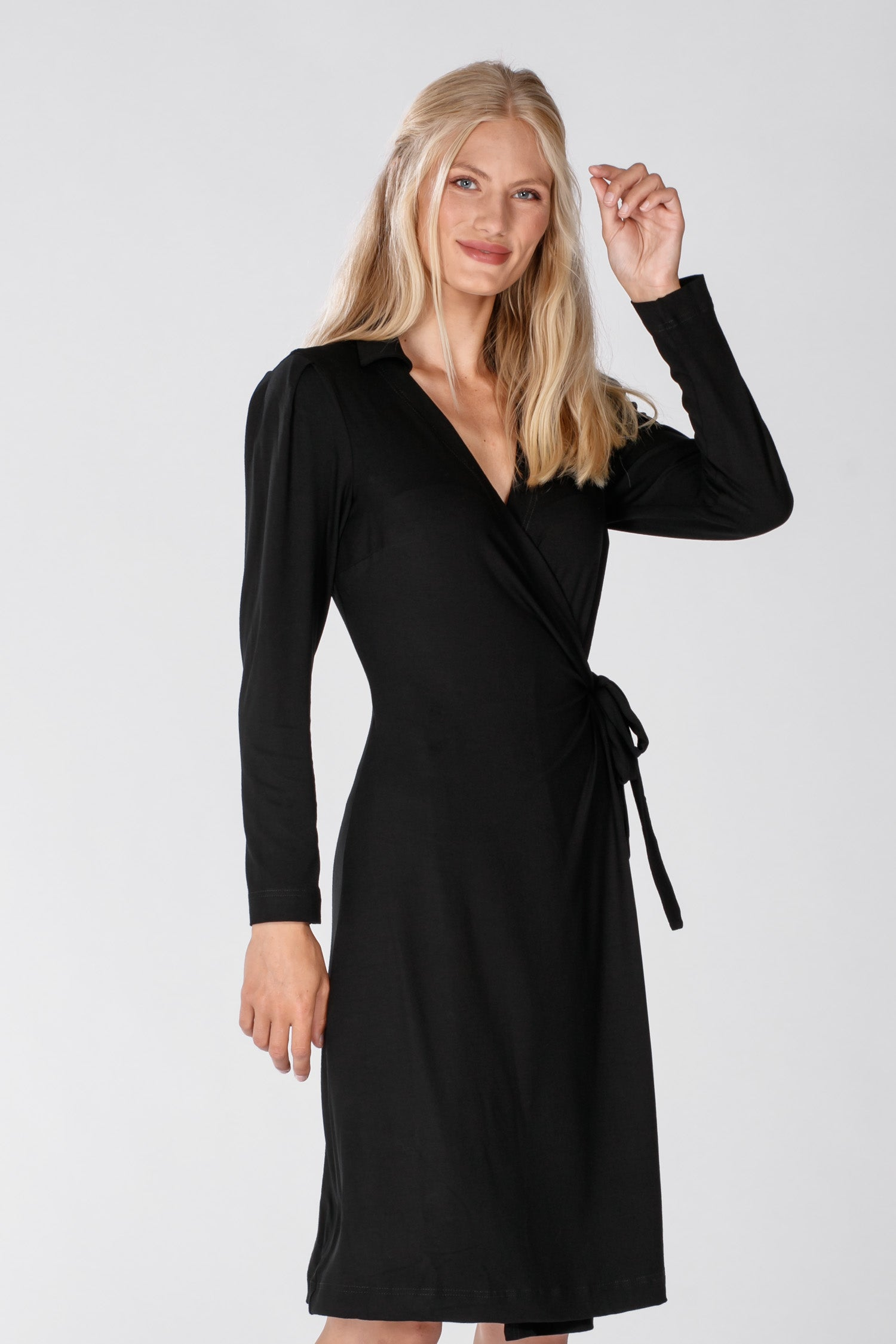 Perfect wrap jersey dress - Black