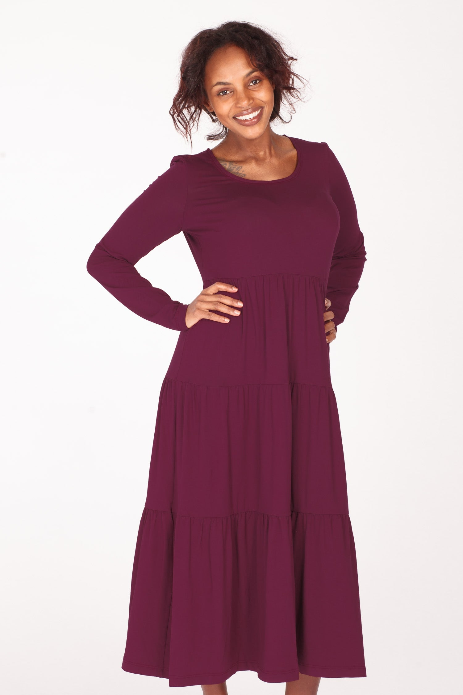 Forever mine jersey dress - Bordeaux