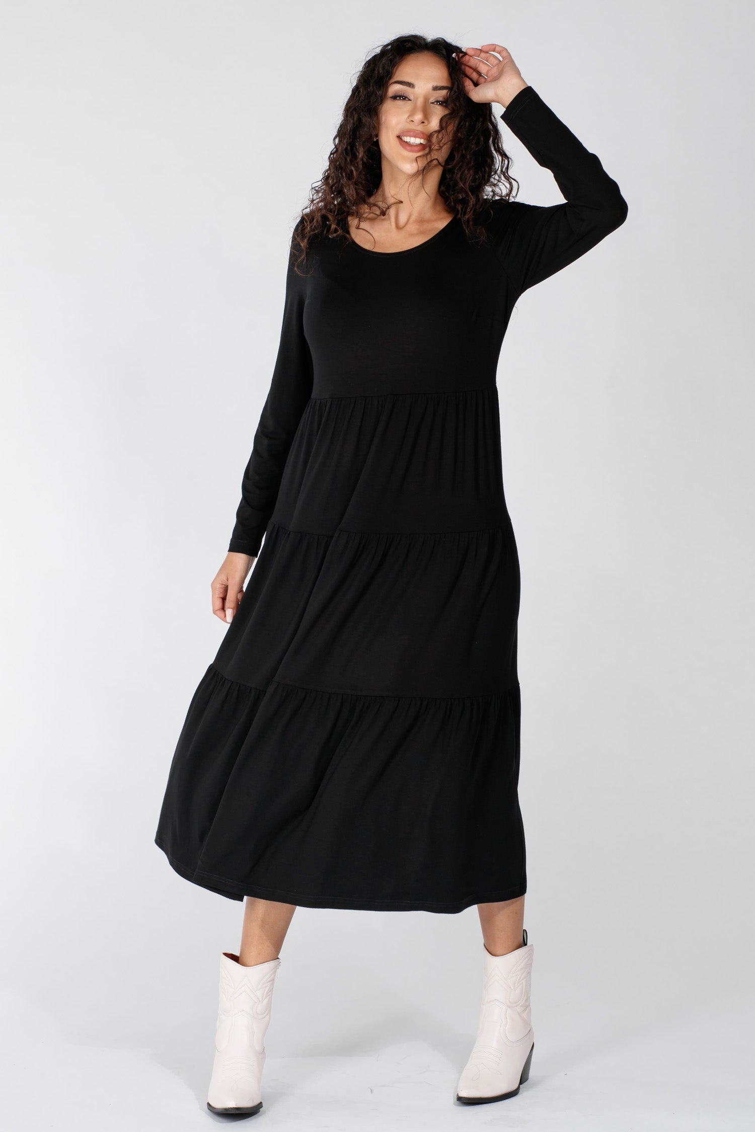 Forever mine jersey dress - Black