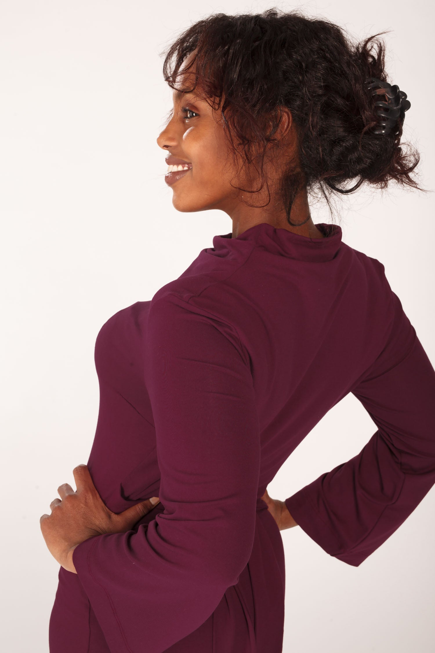 Tie me curvy jersey dress - Bordeaux