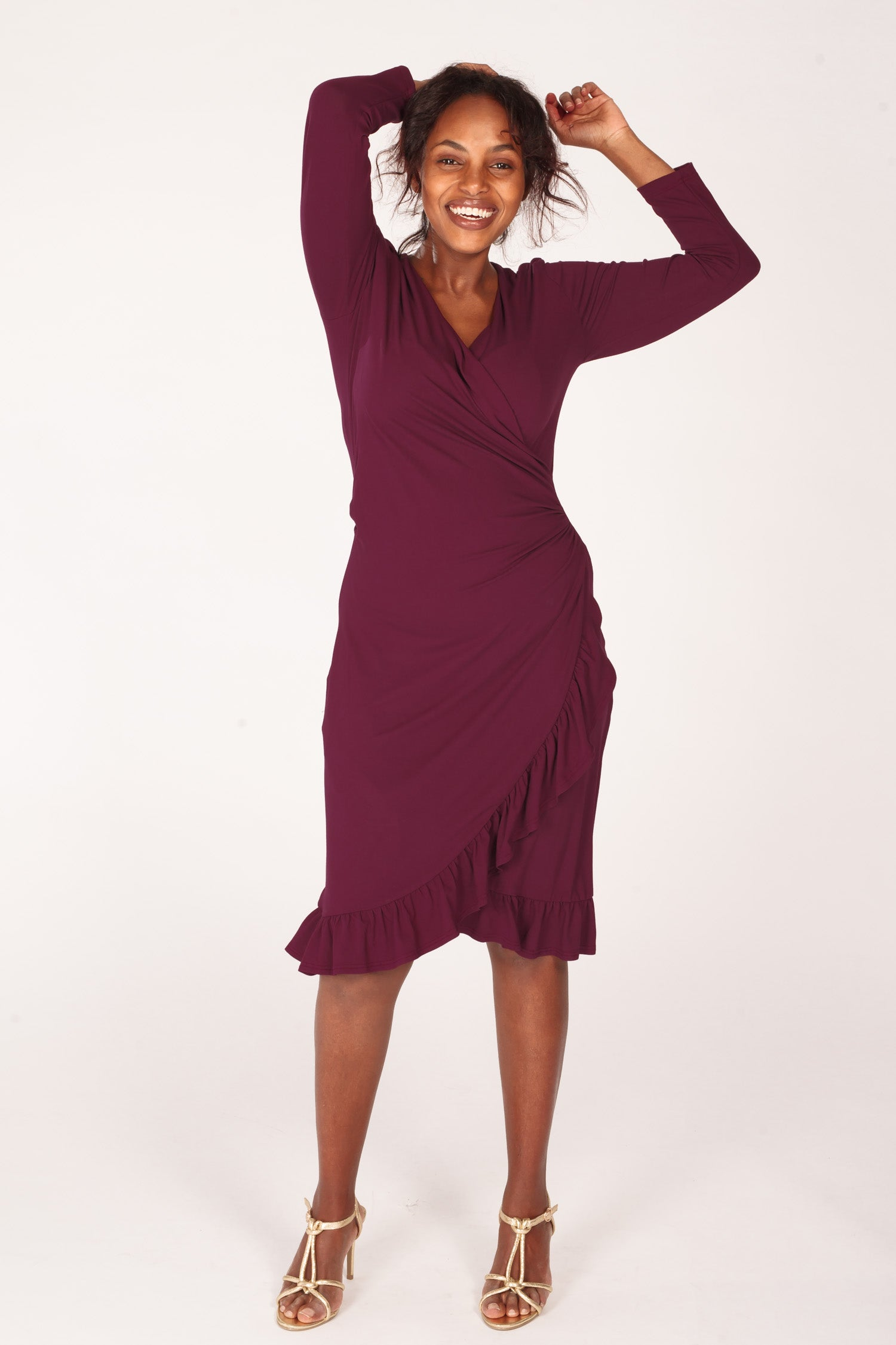 Cutest of them all jersey dress - Bordeaux