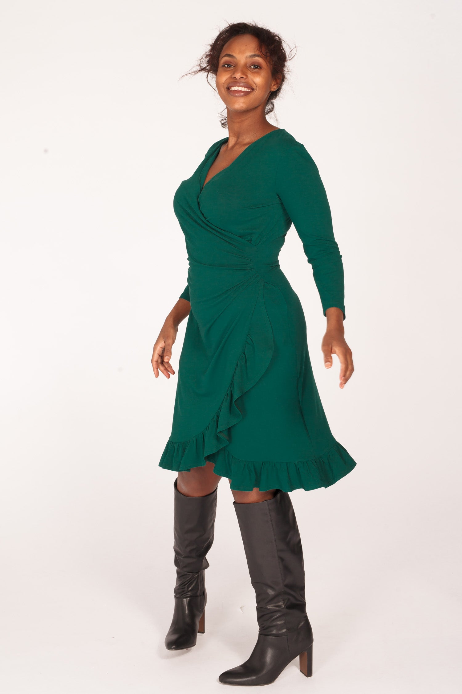 Cutest of them all jersey dress - Dark green