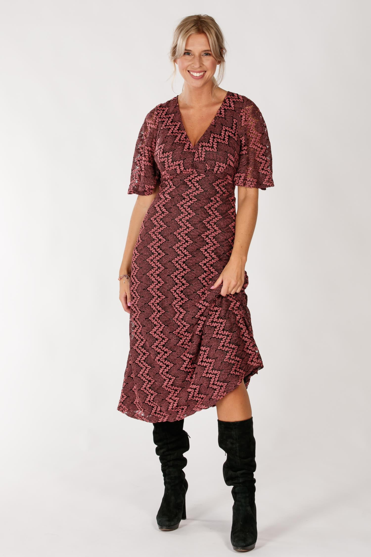 Dhana knit midi dress - Mulberry rose