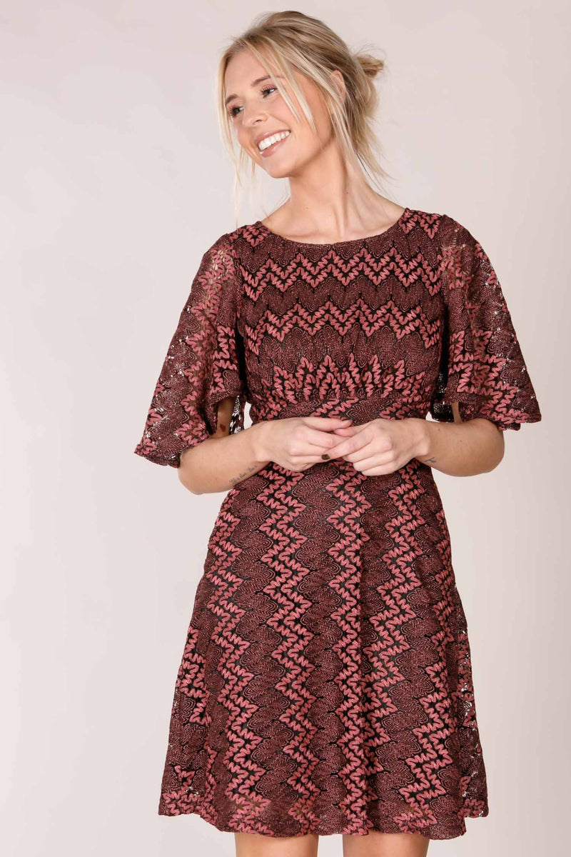 Dhana knit dress - Mulberry rose