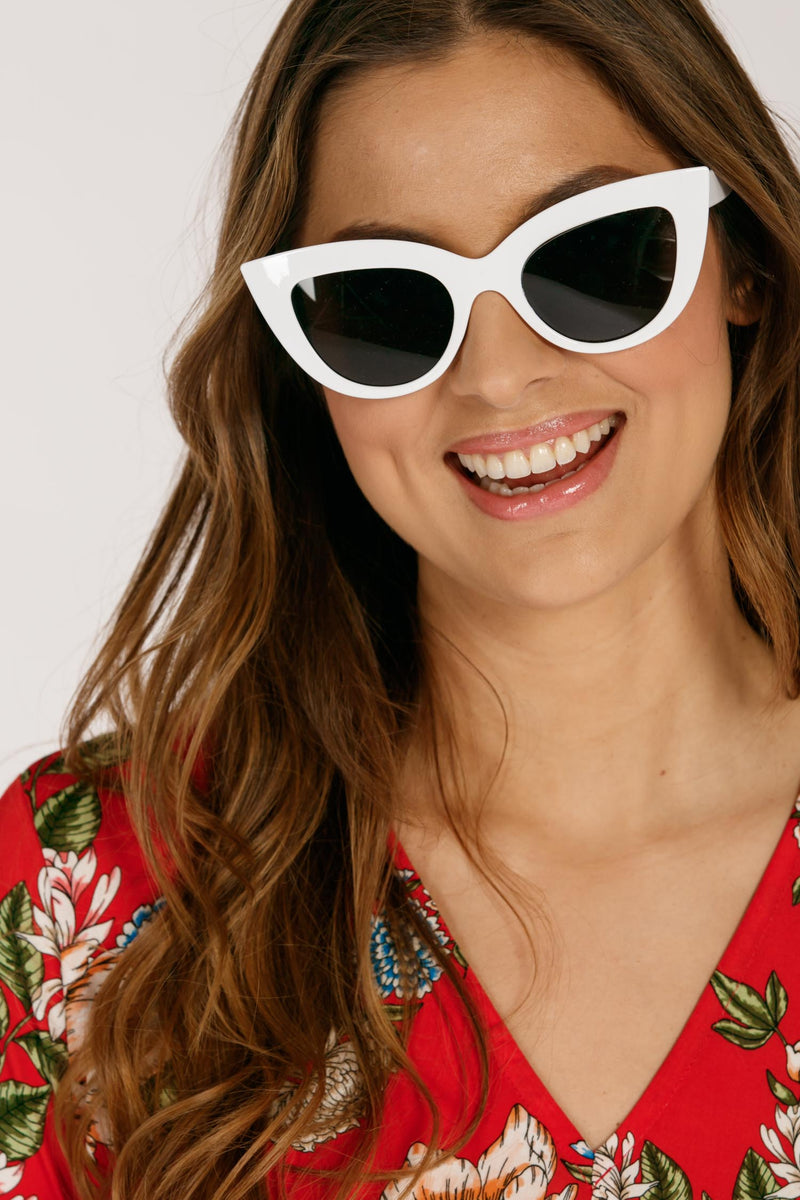 Brave cateye sunglasses - White