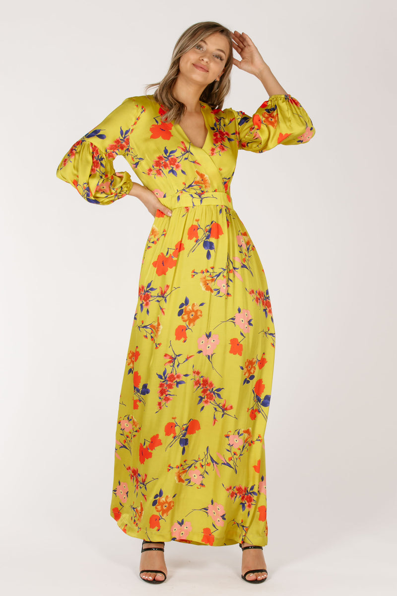 Primrose long dress - Yellow