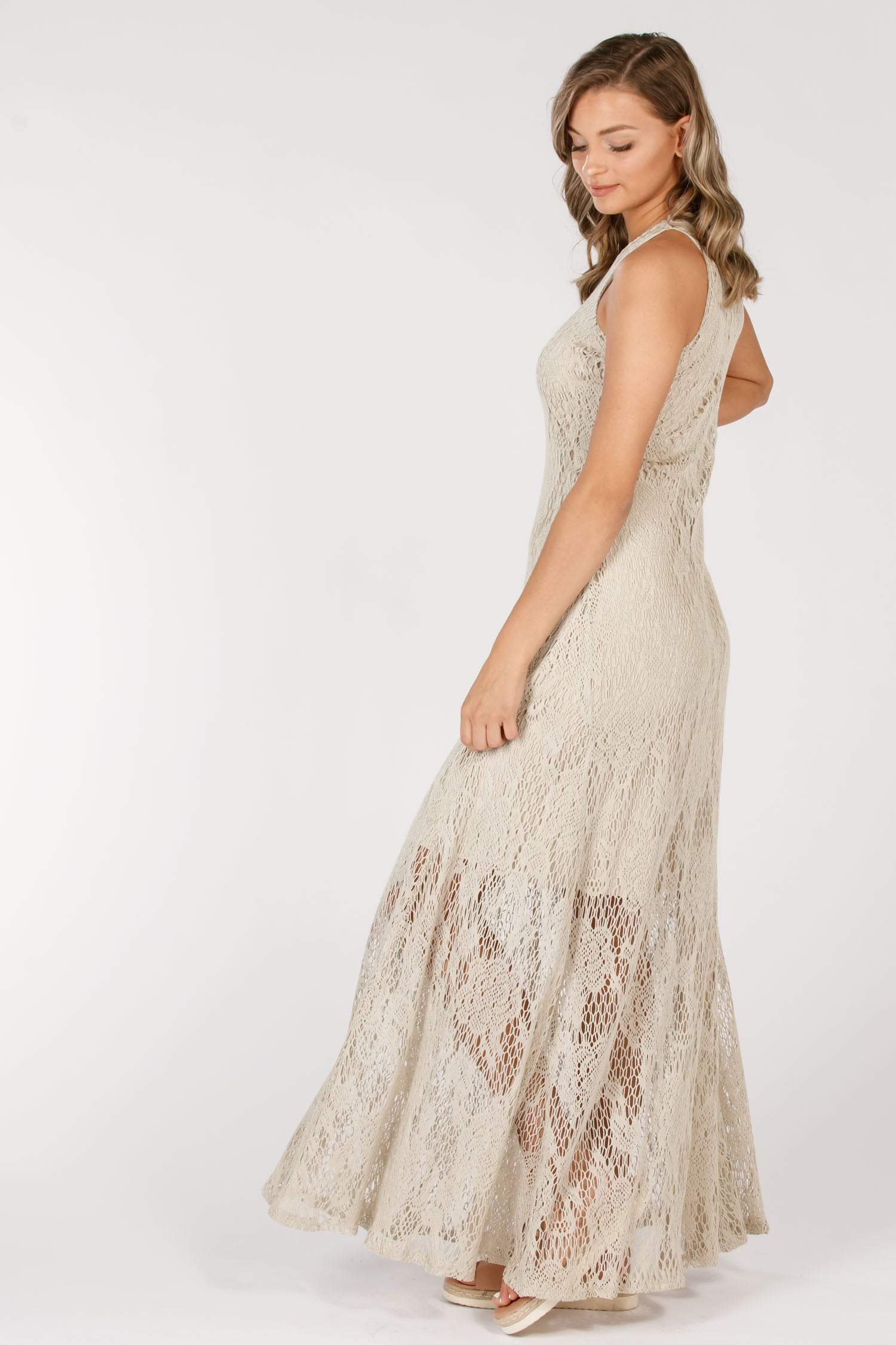 Ciao long dress - Beige