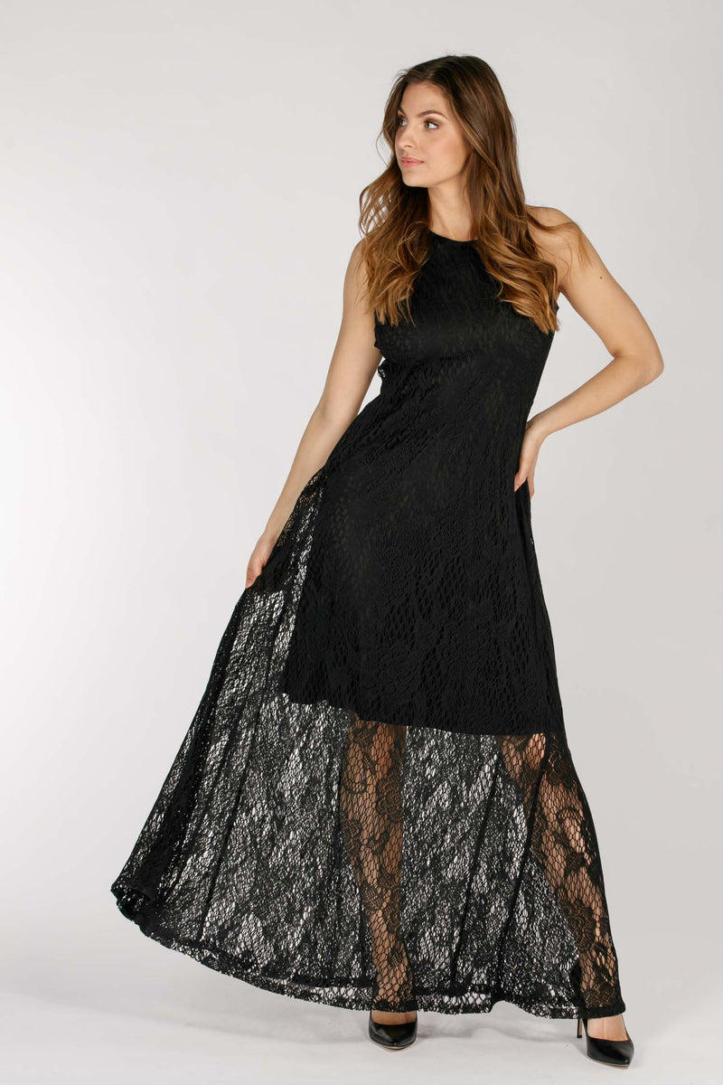 Ciao long dress - Black