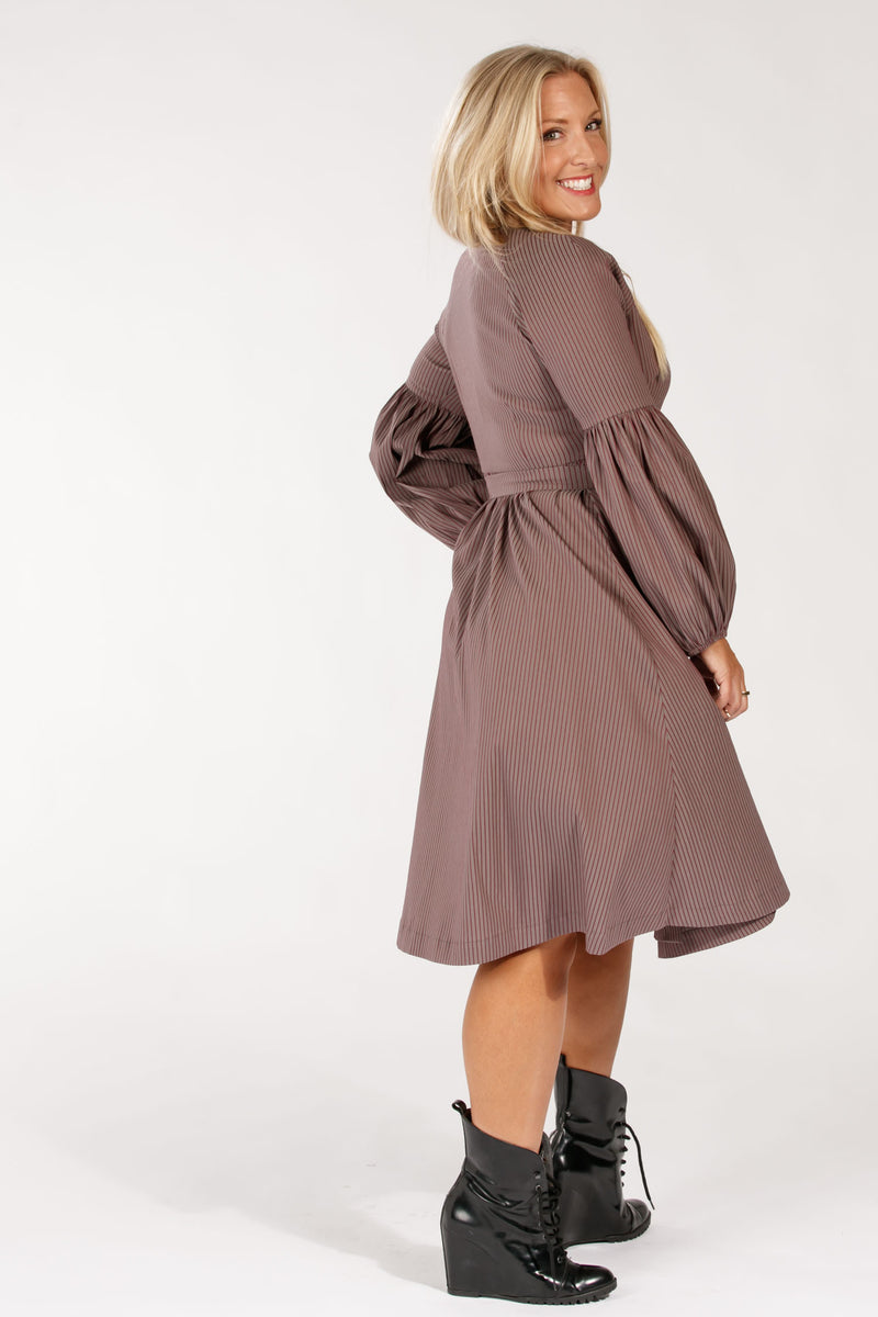 Centro wrap dress - Taupe