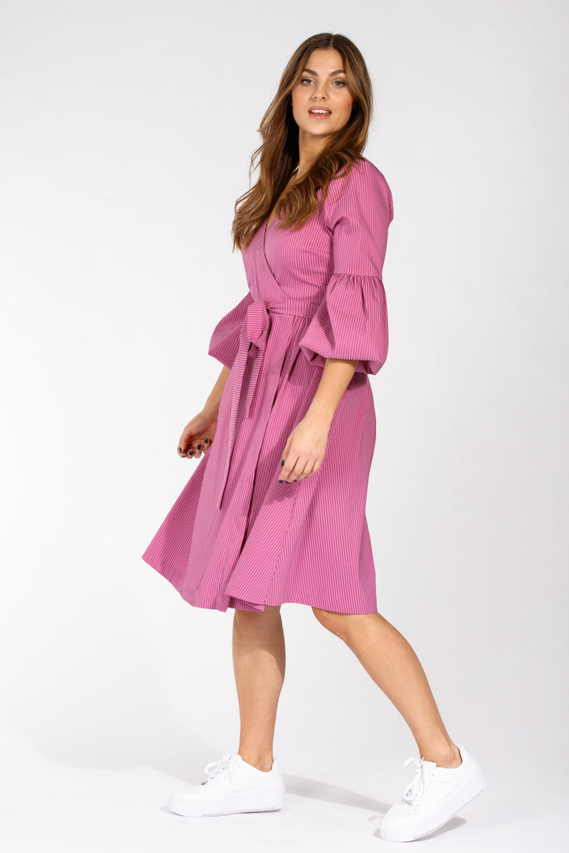 Centro wrap dress - Pink