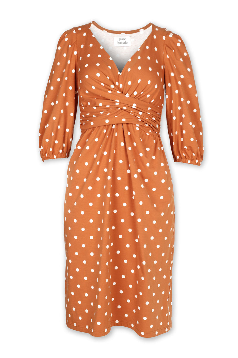 Valentina jersey dress - Rust