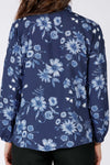 Cosmea fall shirt - Blue