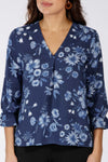 Cosmea fall blouse - Blue