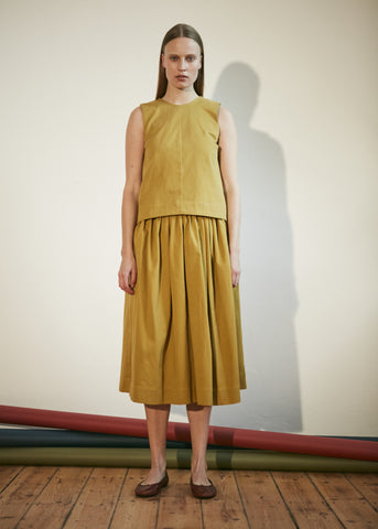 AW Hinterland Margot Molyneux Full Skirt Chartreuse