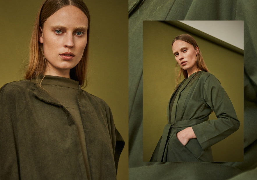 Hinterland Cape Overcoat Fern green