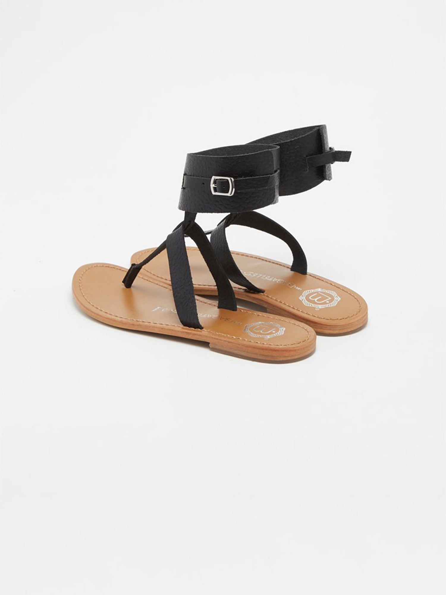 BROOKLYN Sandale neutre en cuir