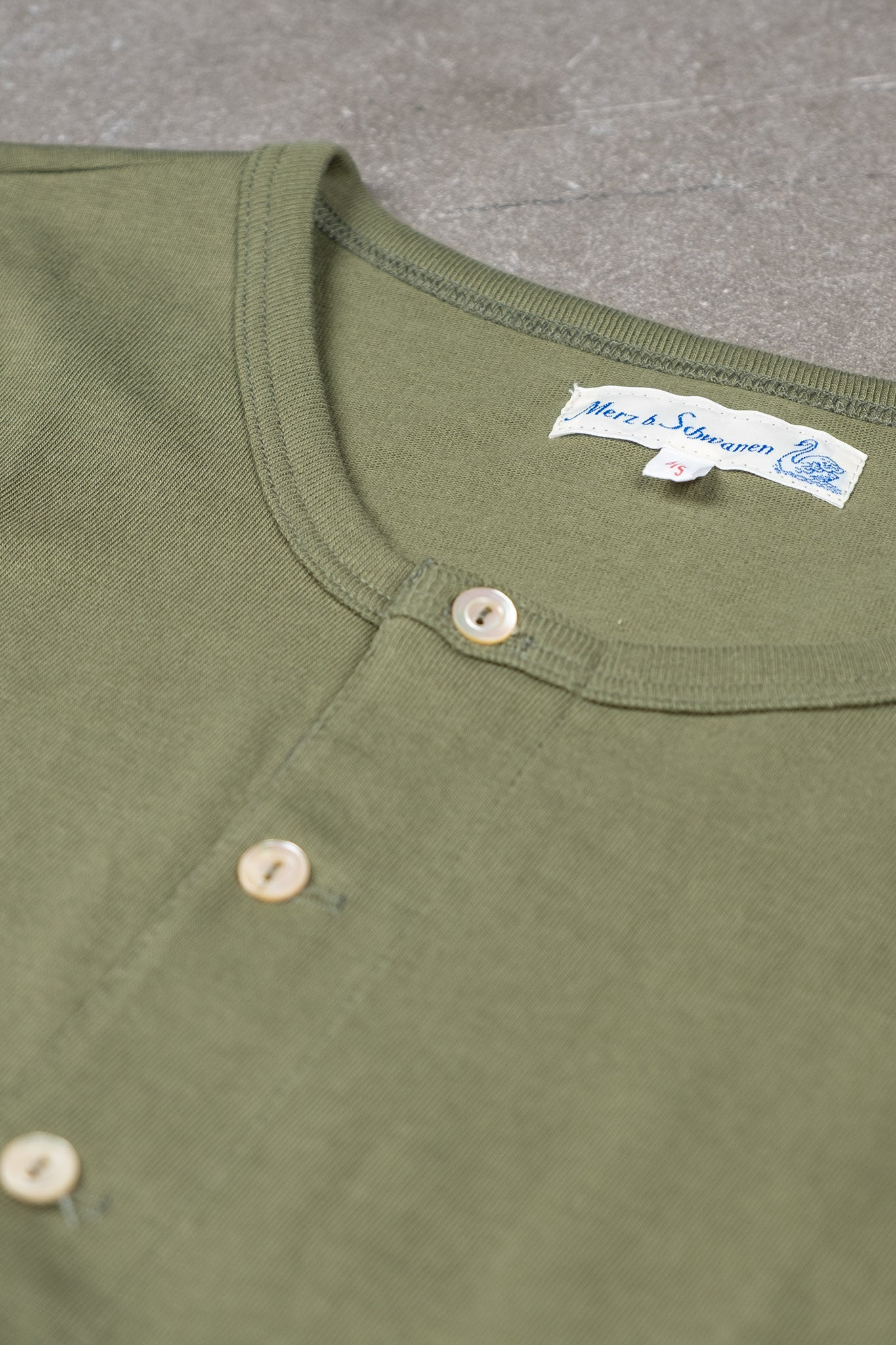 Original Henley Short Sleeved - Army