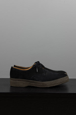 Lo-Top Gibson Shoe - Black Suede