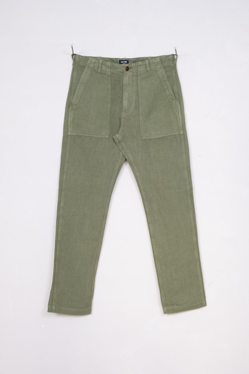 Fatigue Pant Cotton Linen Twill - Military