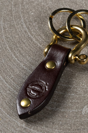 Shackle Key Fob - Deep Honey Brass