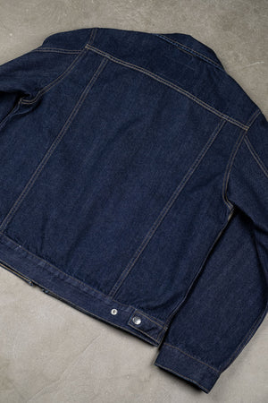 Denim Zip Jacket 13oz Kuroki Selvedge - Rinsed