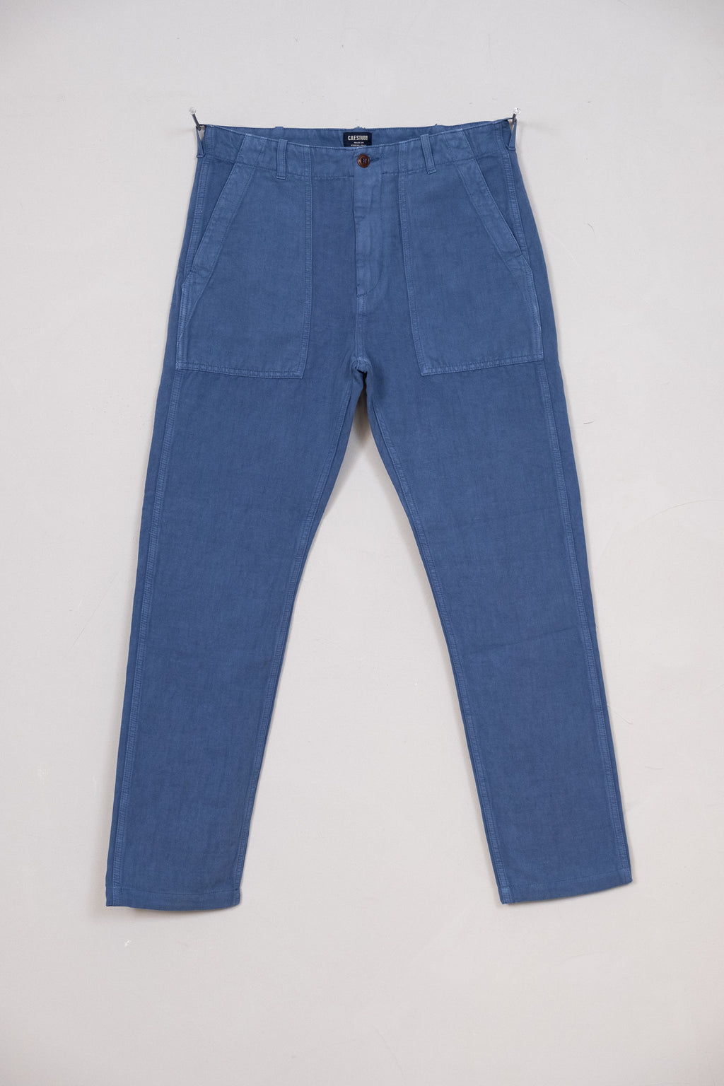 Fatigue Pant Cotton Linen Twill - Avio Blue