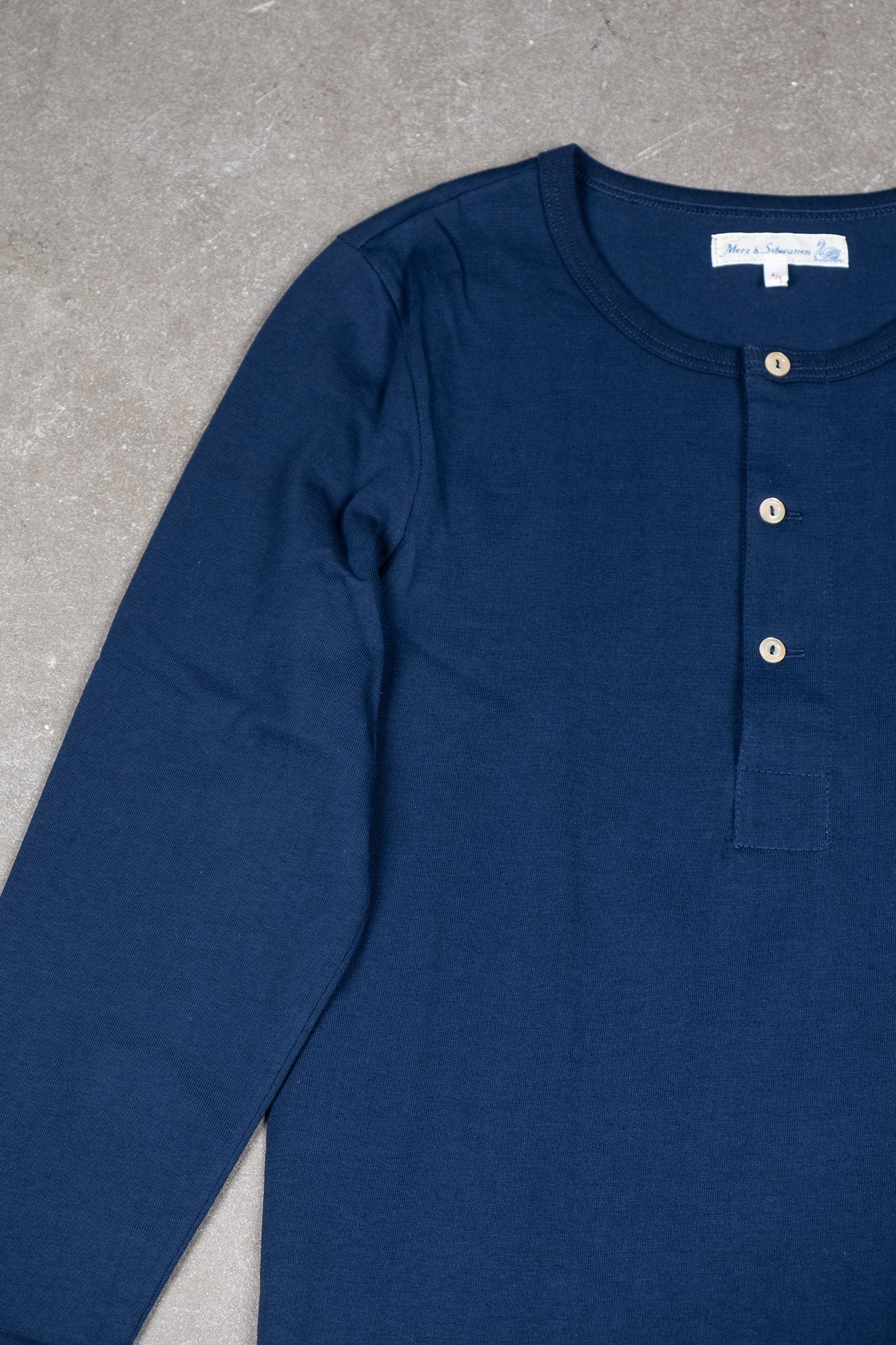 Original Long Sleeve Henley - Ink