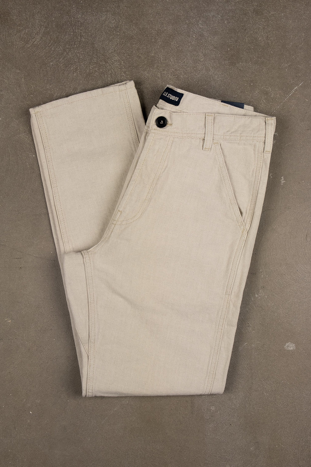 Labour Pant Cotton Linen Twill - Ecru