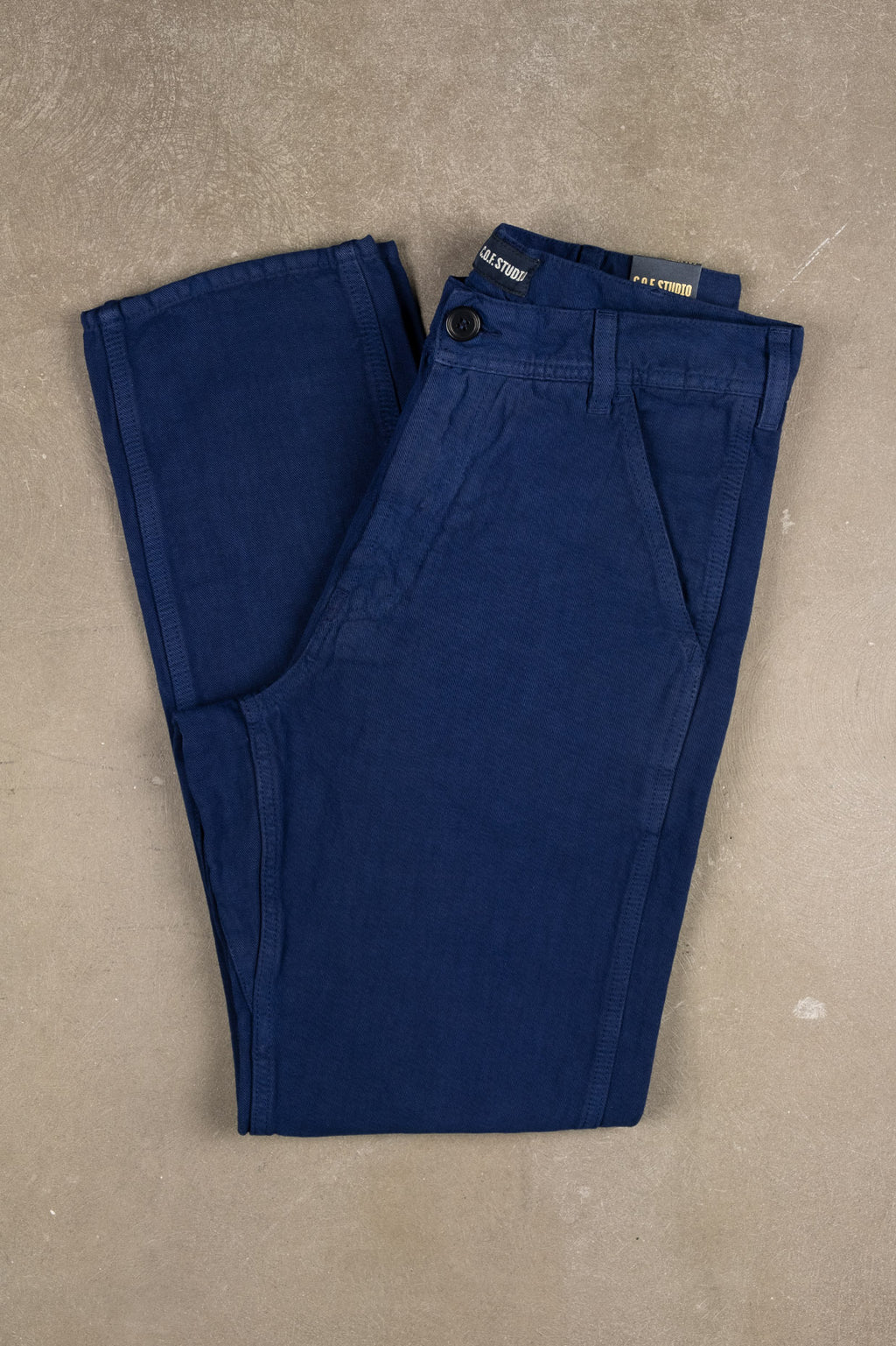 Labour Pant Cotton Linen Twill - French Blue