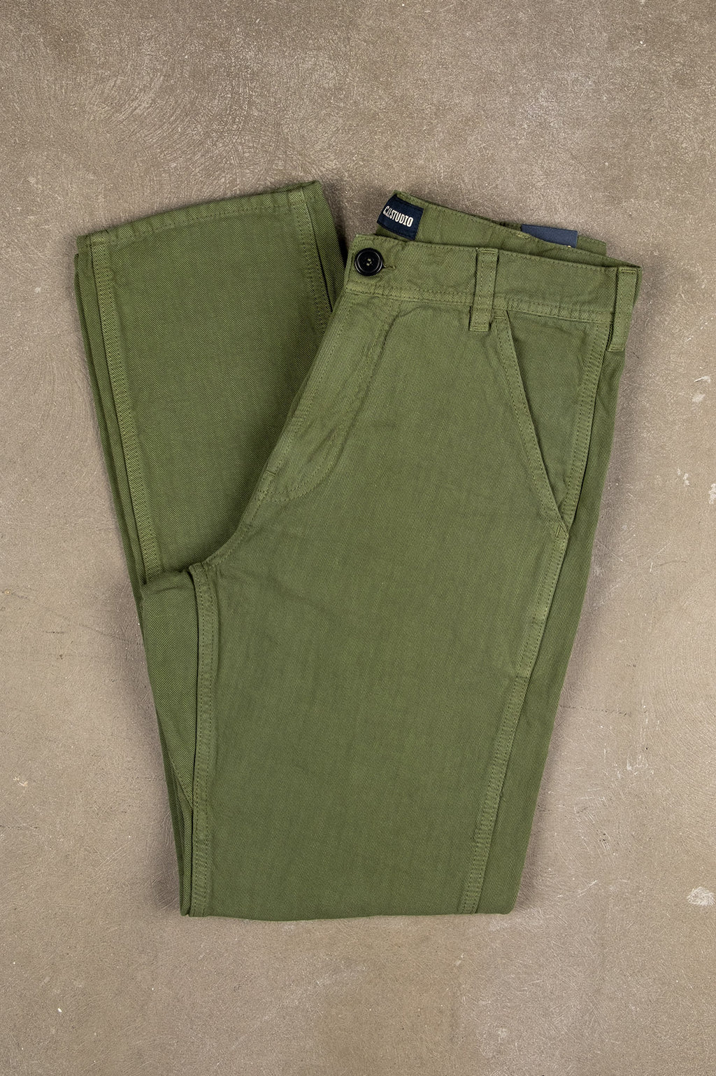 Labour Pant Cotton Linen Twill - Military
