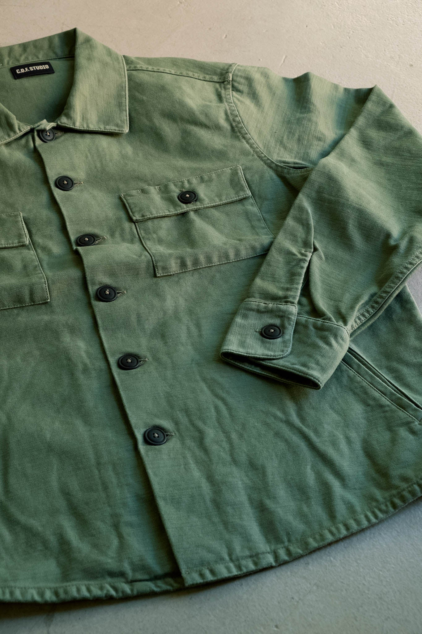 Mechanic Shirt Back Sateen - Military