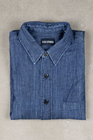 New Standard Shirt 6oz Indigo - Rinsed