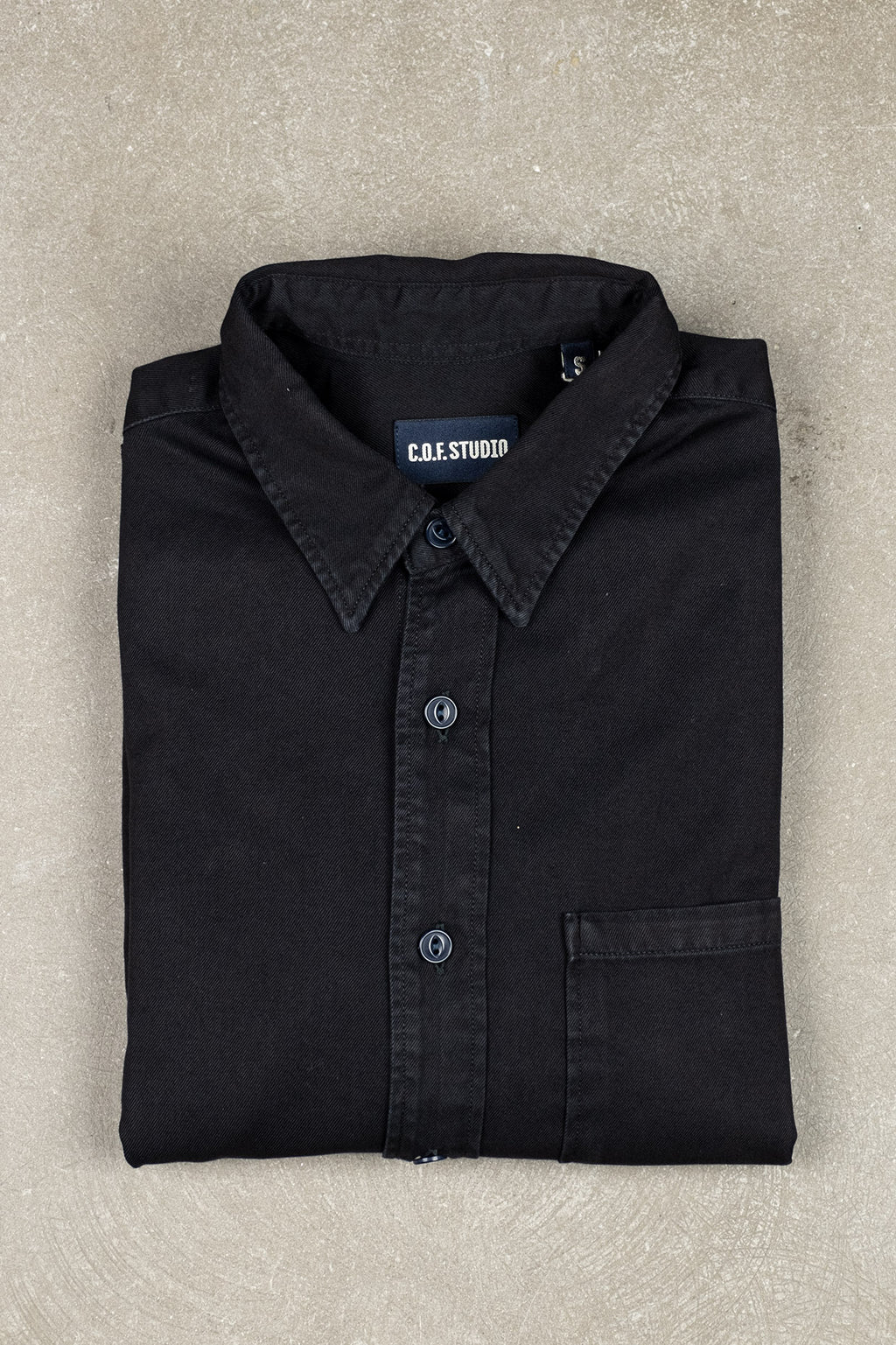 New Standard Shirt Black Twill - Rinsed