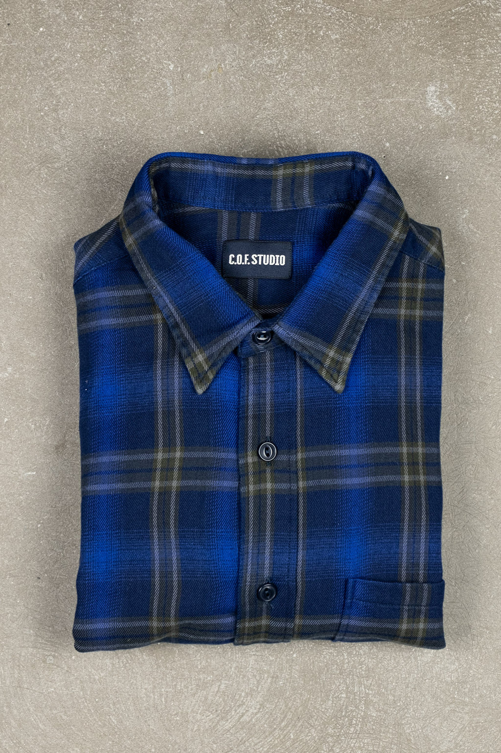 New Standard Shirt Alaska Check - Navy