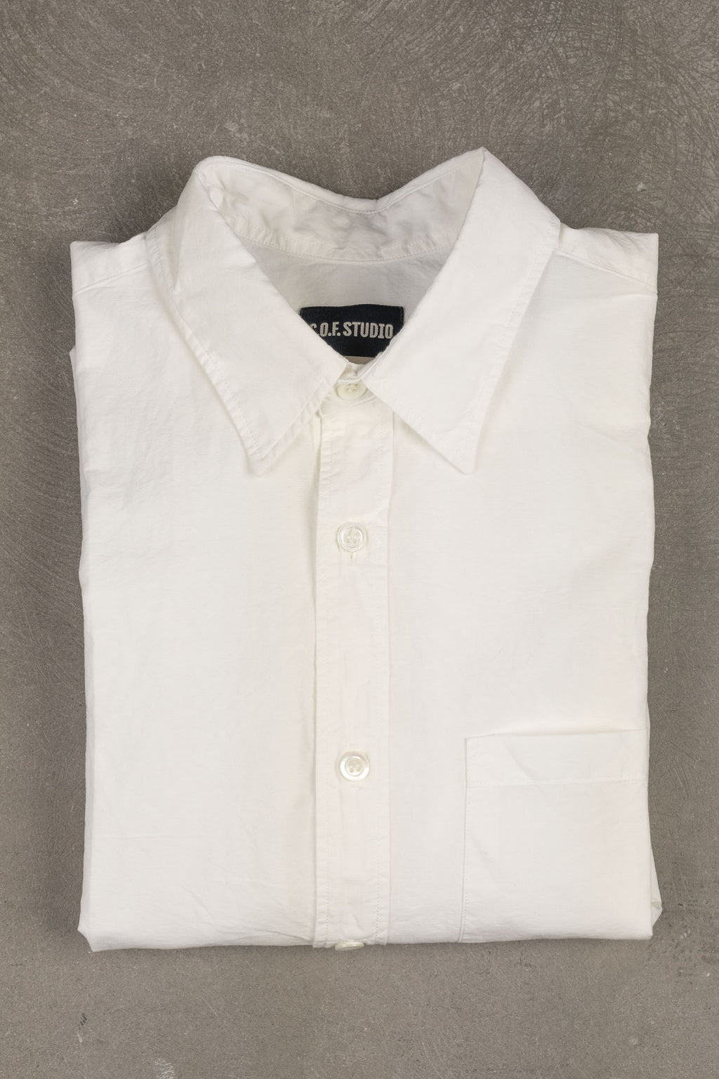New Standard Shirt Slub Poplin - White
