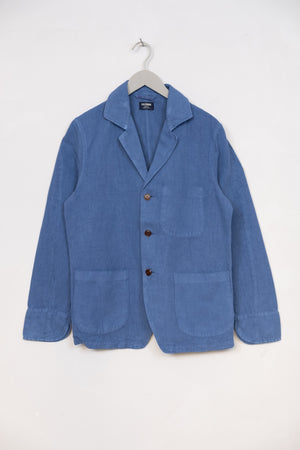Painter Jacket Cotton Linen Twill - Avio Blue
