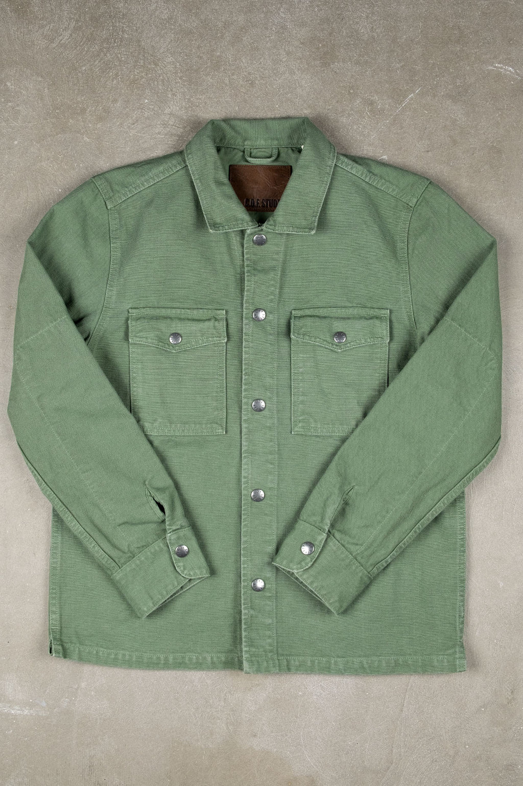 Trucker Shirt 16oz Kuroki Canvas - Military