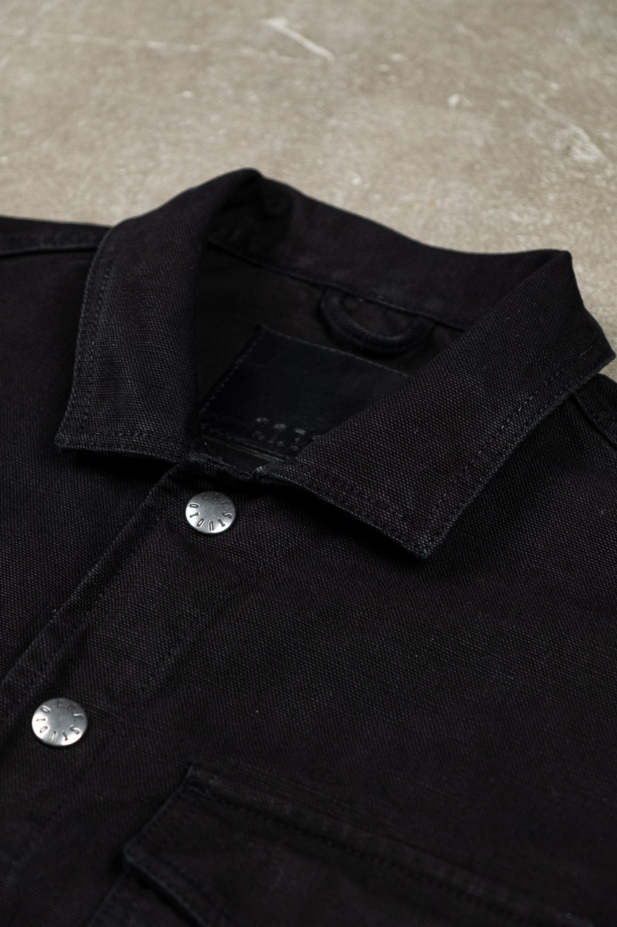 Trucker Shirt Kuroki Canvas - Black